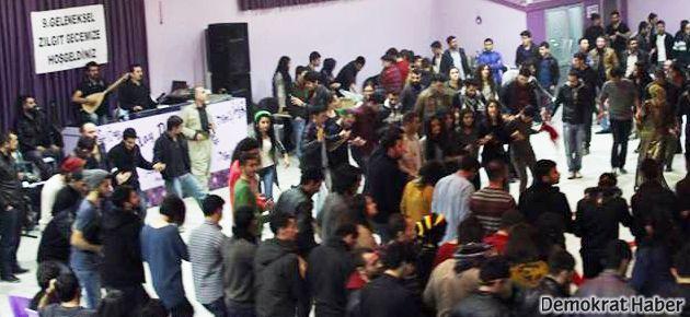 Edirne'de öğrencilerden zılgıt gecesi
