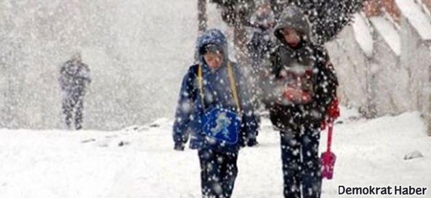 Eğitime kar engeli; işte okulların tatil edildiği iller