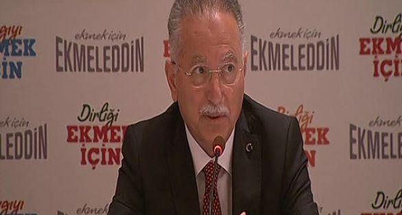 Ekmeleddin İhsanoğlu Akit muhabiriyle tartıştı