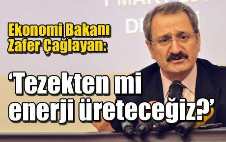 Ekonomi Bakanı Zafer Çağlayan: 'Tezekten mi enerji üreteceğiz?'