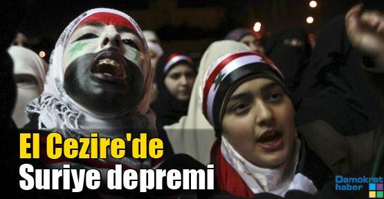 El Cezire'de Suriye depremi