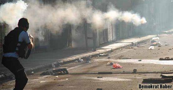 Elektrik kesintisi protestosuna polis müdahalesi