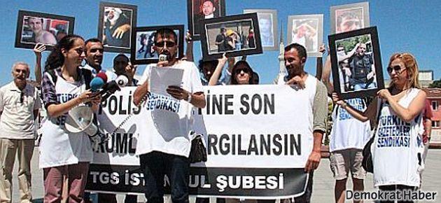 'En az 28 gazeteci yaralandı, 14 gazeteci gözaltına alındı'