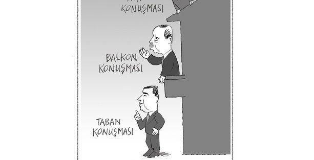 Erdoğan 'balkon'da, Demirtaş 'taban'da konuşuyor
