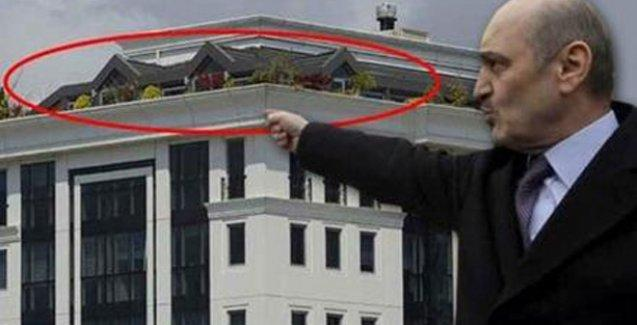 Erdoğan Bayraktar'ın terası kaçak çıktı!