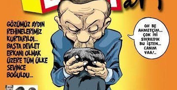 Erdoğan, Davutoğlu'nu sevinçten havaya kaldırdı