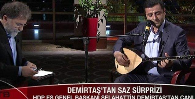 Erdoğan, Demirtaş'ın Türkü söyelmesine de tahammül edemedi