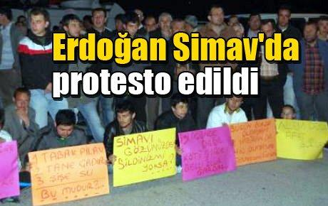 Erdoğan Simav'da protesto edildi