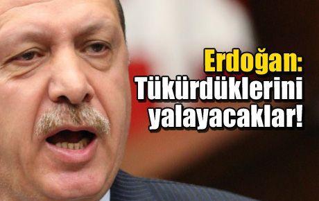 Erdoğan: Tükürdüklerini yalayacaklar