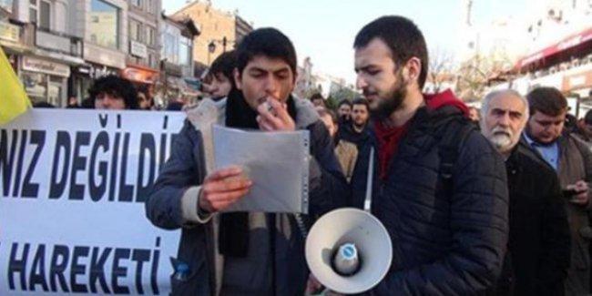 'Erdoğan'a hakaret'ten tutuklanmayı protesto ederken 'Erdoğan'a hakaret'ten gözaltına alındı