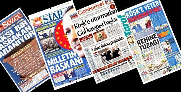 Erdoğan'ın Cumhurbaşkanı seçilmesi gazete manşetlerine nasıl yansıdı?