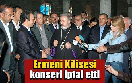 Ermeni Kilisesi konseri iptal etti