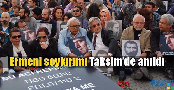Ermeni soykırımı Taksim'de anıldı