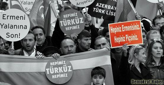 Ermenilere yönelik ırkçı pankarta ceza