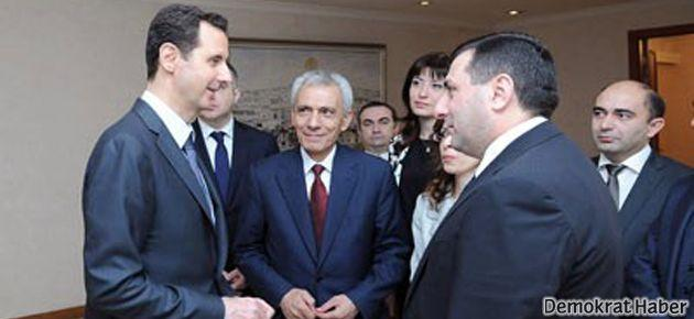 Ermenistan Parlamentosu'ndan Esad'a ziyaret