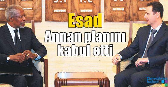 Esad Annan planını kabul etti