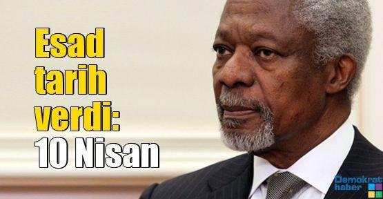 Esad tarih verdi:  10 Nisan