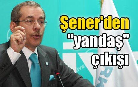 """Eski AK Partili Şener'den """"yandaş"""" çıkışı"""