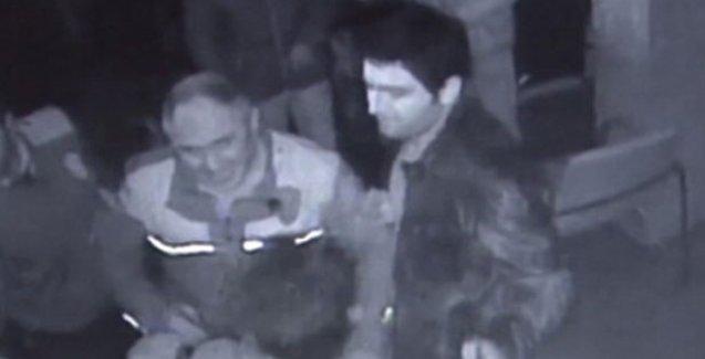 Esnafa polis dayağı güvenlik kamerasına yansıdı