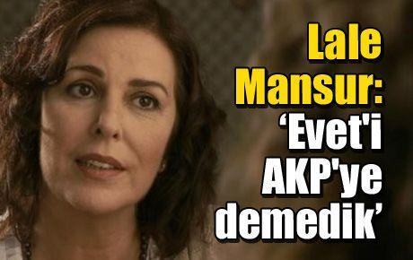'Evet'i AKP'ye demedik'