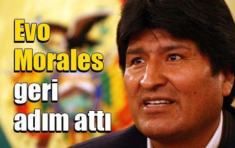 Evo Morales geri adım attı