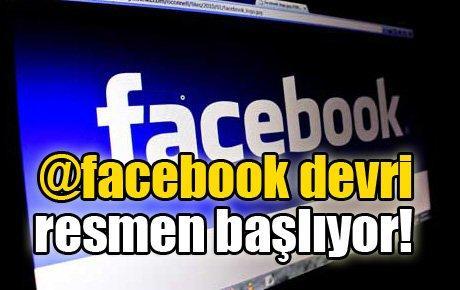 @facebook devri resmen başlıyor!