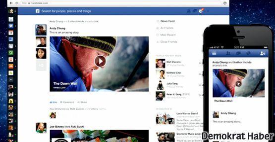 Facebook yeni tasarımını tanıttı