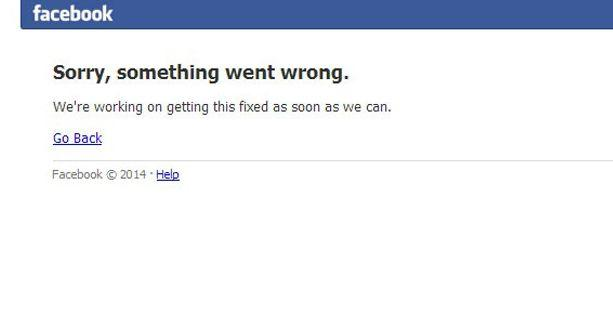 Facebook'a erişim sağlanamıyor