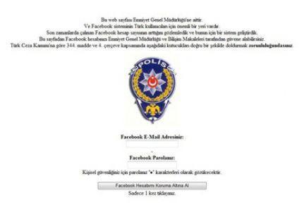 Facebook'ta polisli tuzak