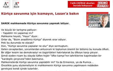 Fatih Çekirge Kürtçe savunmaya açılım getirdi...