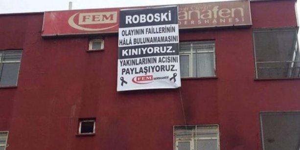 FEM'den şaşırtan 'Roboski' pankartı
