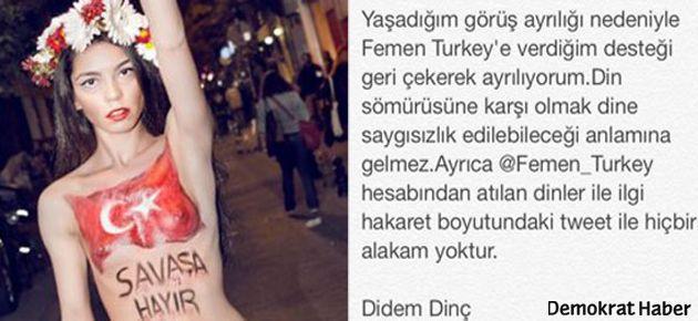 FEMEN Türkiye'de ilk çatlak