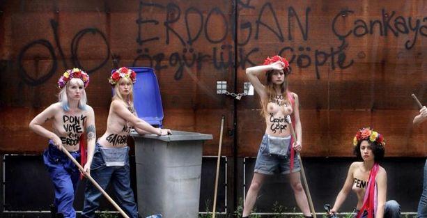 FEMEN: 'Özgürlüğüne sahip çık, Erdoğan'a oy verme!'