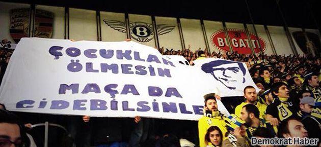 Fenerbahçe tribünlerinde Berkin Elvan pankartı