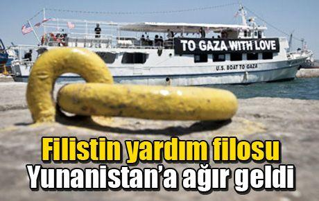 Filistin filosu Yunanistan'a ağır geldi