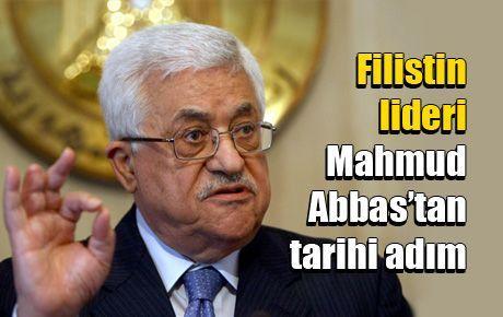 Filistin Lideri Mahmud Abbas'tan tarihi adım