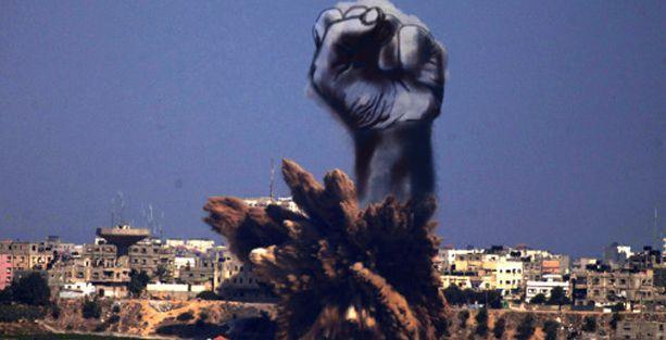 Filistinli genç bombardımanı sanata dönüştürdü