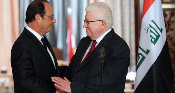 Fransa Cumhurbaşkanı Hollande Irak'ta