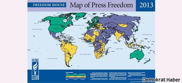 Freedom House: Türkiye'de basın 'kısmi özgür'