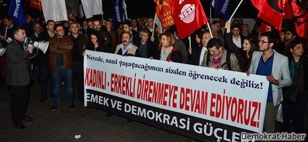 Galatasaray'da 'öğrenci evi' protestosu