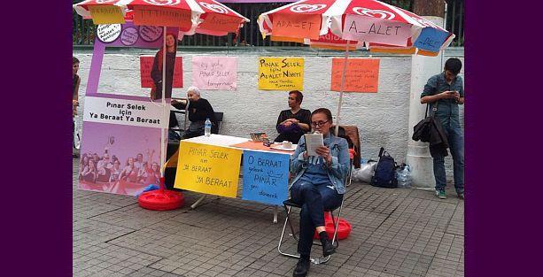 Galatasaray'da Pınar Selek nöbeti
