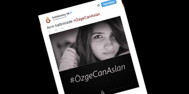 Galatasaray'dan #ÖzgecanAslan mesajı
