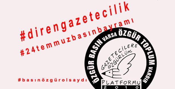 Gazetecilere Özgürlük Platformu neden #basınözgürolsaydı diyor?