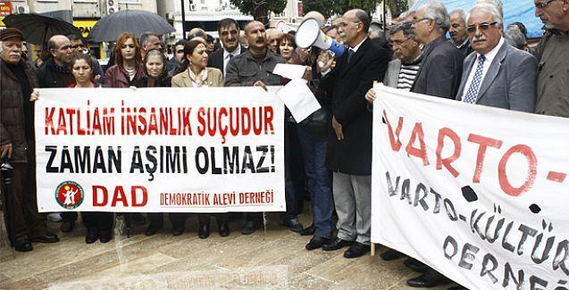 Gazi Katliamı Mersin'de protesto edildi