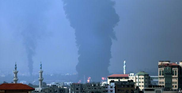 Gazze'ye elektrik sağlayan tek santral vuruldu