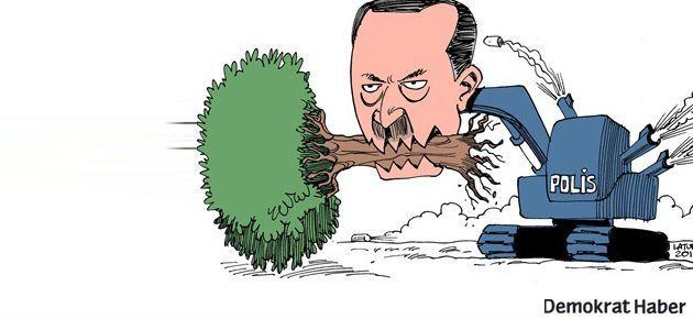 Gezi karikatürleri polis tarafından toplandı
