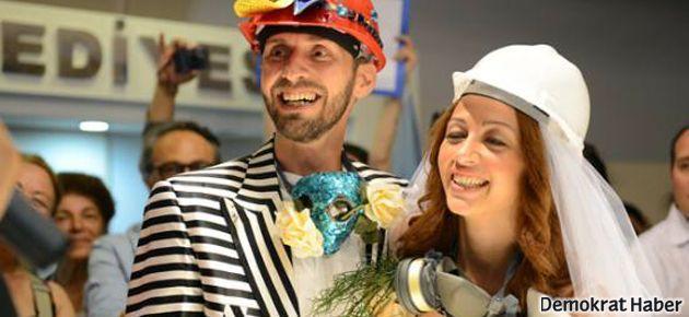 Gezi Parkı aşıkları evlendi