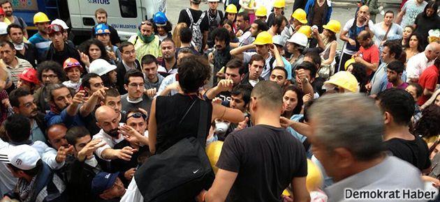 Gezi Parkı'nda baret ve maske takanlara gözaltı
