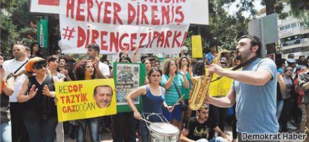 Gezi'de 'gitar ve davul çalmak' da suç sayıldı