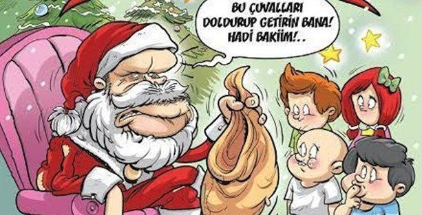Gırgır, Erdoğan'ı bir acayip Noel Baba kılığına soktu
